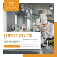 white and orange catering services template d Instagram Plasing