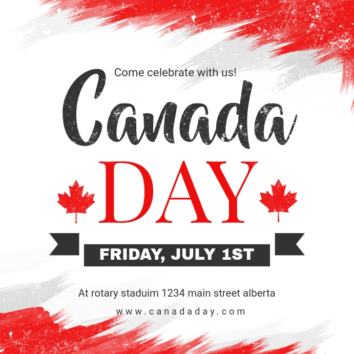 White and Red Canada Day Ad Instagram-Beitrag template