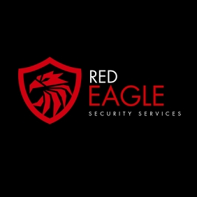 white and red eagle icon logo