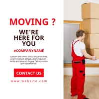 white and red moving services advertisement d