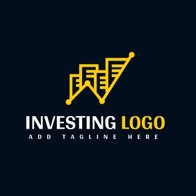 white and yellow investing chart logo templat Логотип template