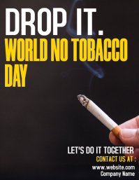 white and yellow world no tobacco day Flyer (format US Letter) template