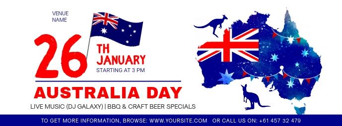 White Australia Day Facebook Cover