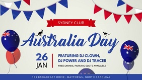 White Australia Day FB Cover Video template