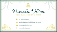 White Bakery Shop Business Card Besigheidskaart template