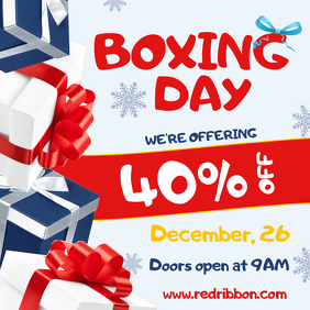 White Boxing Day Sale Instagram Post