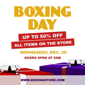 White Boxing Day Sale Square Video