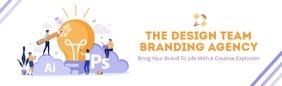 White Branding Agency LinkedIn Career Cover P template