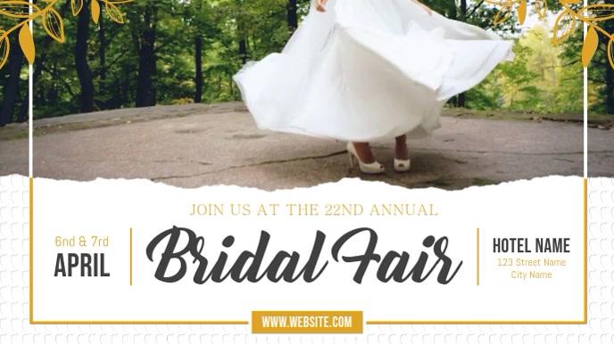 White Bridal Fair Wedding Fair Digital Display Video template