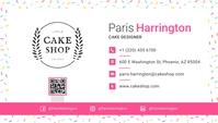White Cake Designer Business Card Besigheidskaart template
