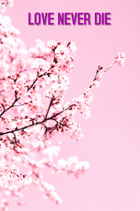 white cherry tree Poster template