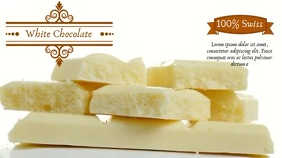 WHITE CHOCOLATE BACKGROUND AD Digital Display (16:9) template