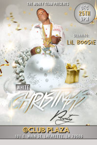 WHITE CHRISTMAS PARTY CLUB FLYER TEMPLATE