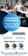 White Corporate Conference Roll Up Banner Sta