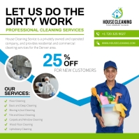 White Deep Cleaning Ad Instagram Image template