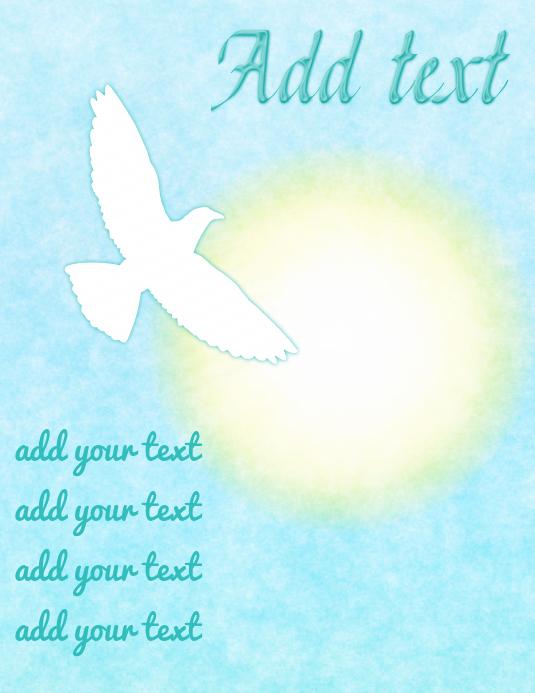 White dove & bright shining sun