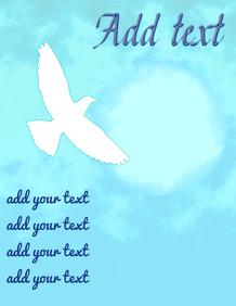 White dove & bright sky