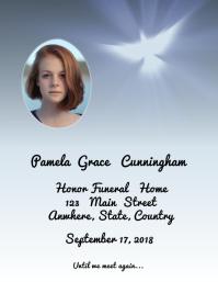 White Dove Funeral Program Cover