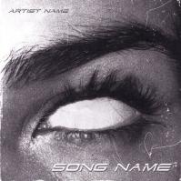 White eyes mixtape cover art template ปกอัลบั้ม