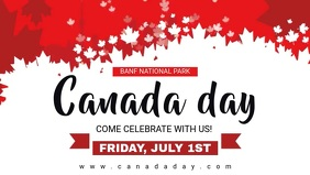 White Flakes Canada Day Video Banner template