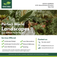 White Gardening and Lawn Care Ad Instagram Post template