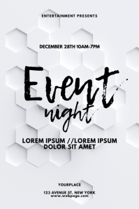White geometry event flyer design template