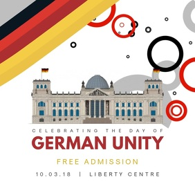 White German Unity Day Celebration Instagram