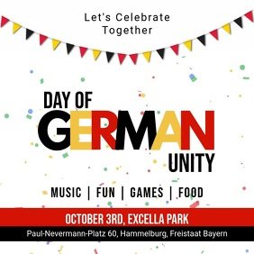 White German Unity Day Celebration Square Vid