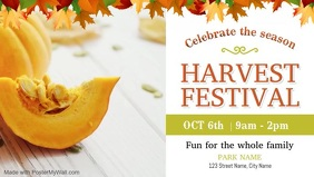 White Harvest Festival Event Facebook Cover V