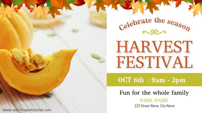 White Harvest Festival Event Facebook Cover V
