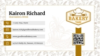 White Head Baker Business Card Besigheidskaart template