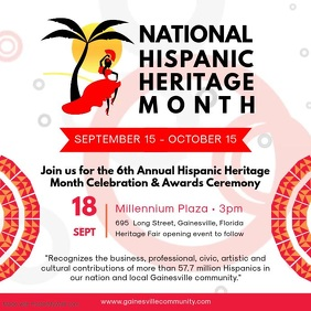 White Hispanic Heritage Month Event Video Ad