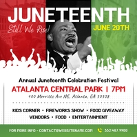 White Juneteenth Instagram Image template