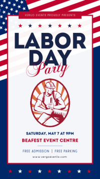 White labor day party instagram story template