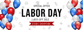 White Labor Day Sale Facebook Cover Photo Facebook-omslagfoto template