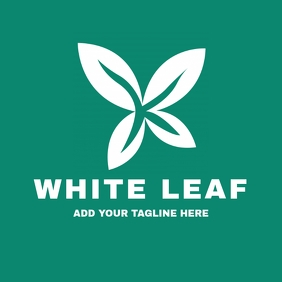 White leaf eco green logo