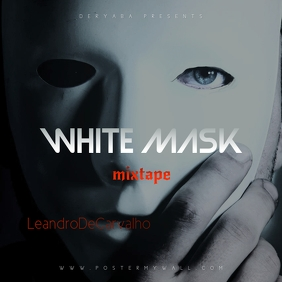 White Mask Mixtape CD Cover Template