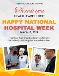 White National Hospital Week Flyer Template 传单(美国信函)