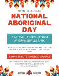 White National Indigenous Day Event Flyer template