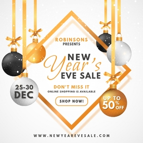 White New Year's Eve Promo Instagram Ad