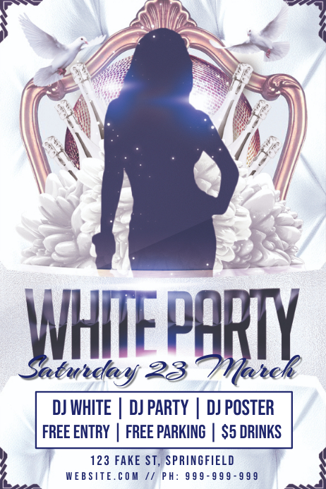White Party Poster