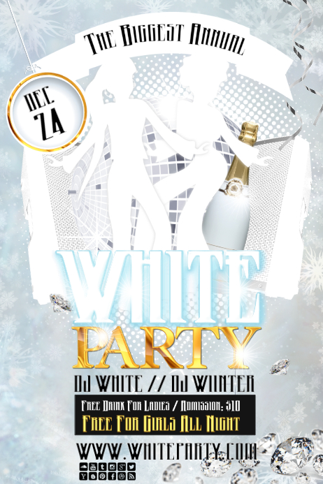 white party2 Poster template