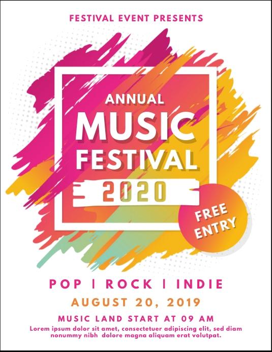 White Pastel Music Festival Poster