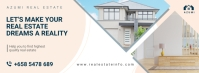 White Real Estate Facebook Cover Photo template