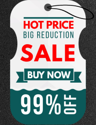 White Retail Shopping Big Sale Tag Template Pamflet (Letter AS)