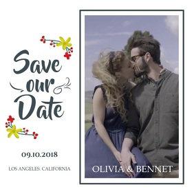 White Save the Date Square Video