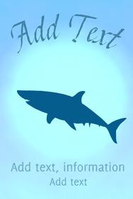 White Shark - in the sea - ocean scene