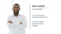 white simple business card template portrait Cartão de visita