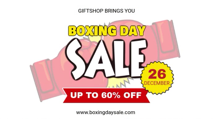 White Simplistic Boxing Day Digital Banner