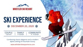 White Ski Ad Facebook Cover Video Facebook-Covervideo (16:9) template